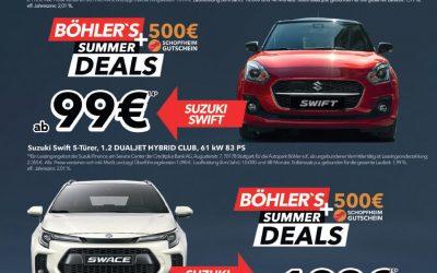 Böhler's Summer Deals